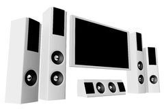 Home theater 02 Royalty Free Stock Images