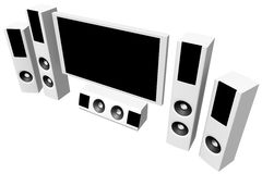 Home theater 03 Stock Image