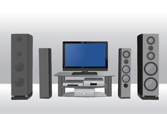Home theater 6 vector Stock Images