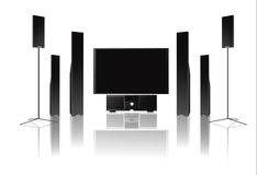 HOME THEATER. Abstract vector illustration of home theatre Stock Photos