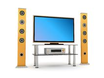 Home theater. 3d illustration of home theater isolated on white background Royalty Free Stock Photography