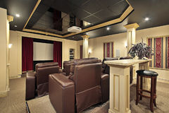 Home theater with colums Royalty Free Stock Images