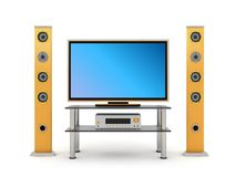 Home theater front view Royalty Free Stock Photography