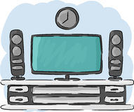 Home Theater hand drawing Royalty Free Stock Photography