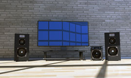 Home Theater Stock Photo