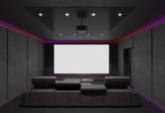 Home Theater Interior. 3d illustration. Stock Image