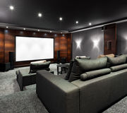 Home theater interior Stock Photos