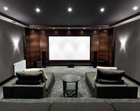 Home theater interior Royalty Free Stock Image