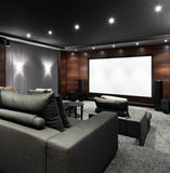 Home theater interior Stock Image