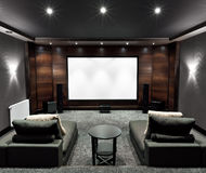 Home theater interior Royalty Free Stock Photos