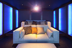 Home theater, luxury interior Stock Photography