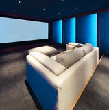 Home theater, luxury interior Stock Image