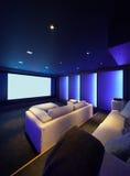 Home theater, luxury interior Royalty Free Stock Photos