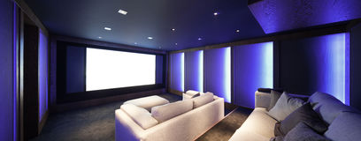 Home theater, luxury interior Stock Images