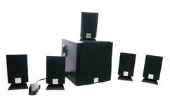 Home theater 5 + 1 Stock Photography
