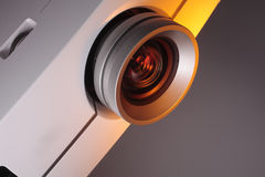 Home Theater Projector with space for text. A photo of home cinema projector with space for your text stock photo