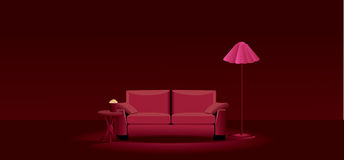 Home theater room Stock Images