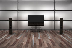 Home Theater Room Stock Photo