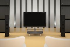 Home Theater Room Royalty Free Stock Photo