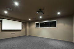 Home theater room Stock Image