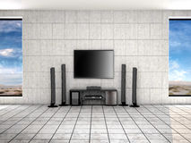 Home theater room. Royalty Free Stock Photo