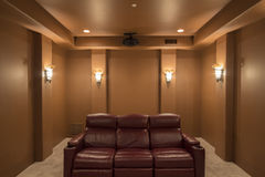 In Home Theater Room Royalty Free Stock Photography