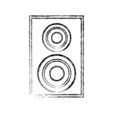 Home theater speaker icon Royalty Free Stock Photo