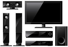 Home theater system Stock Image