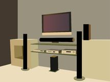 Home theater vector Stock Images