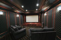 Home Theatre Royaltyfria Foton