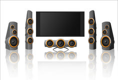 HOME THEATRE. Abstract vector illustration of home theatre Stock Photography