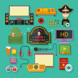Home theatre icon Royalty Free Stock Image