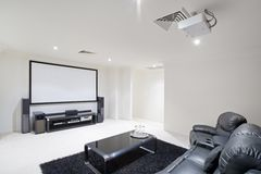 Home Theatre Room royalty free stock image