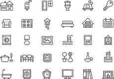 Home themed icon set Stock Photo