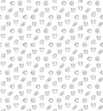 Home things pattern seamless Royalty Free Stock Image