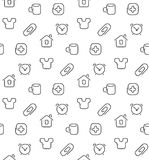 Home things seamless pattern Royalty Free Stock Photography