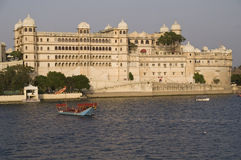Home to a Maharajah. Rajput style City Palace by Lake Pichola, Udaipur, Rajasthan, India Royalty Free Stock Image