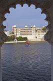 Home to a Maharajah. Rajput style palace on the shore of Lake Pichola, Udaipur, Rajasthan, India Royalty Free Stock Photos