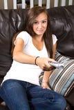 home tonårs- för flicka Arkivfoto