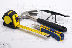 Home tools Construction Concept Royalty Free Stock Photos