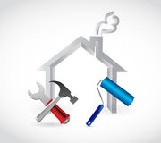 Home tools illustration design Stock Photography