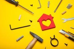 Home tools, interior improvement. Do it yourself concept stock photos