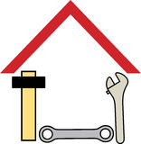 Home tools royalty free illustration