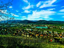 Home town. Trstenik sky nature beautiful Royalty Free Stock Photography