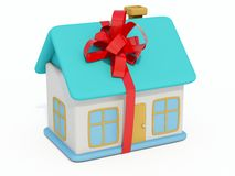Home toy. With ribbon isolated on white Stock Images