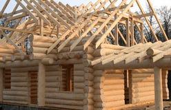 home trä för konstruktion Arkivfoto