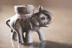 Elephant of fortune with dollar in his trunk royalty free stock images