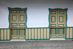 Home. A traditional home in salento, colombia Royalty Free Stock Photo