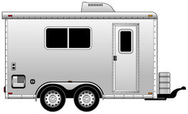 Home trailer. Side view of mobil home Stock Photography