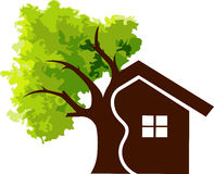 Home tree Stock Image